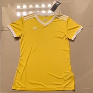 Adidas Yellow V-Neck Climalite Top
